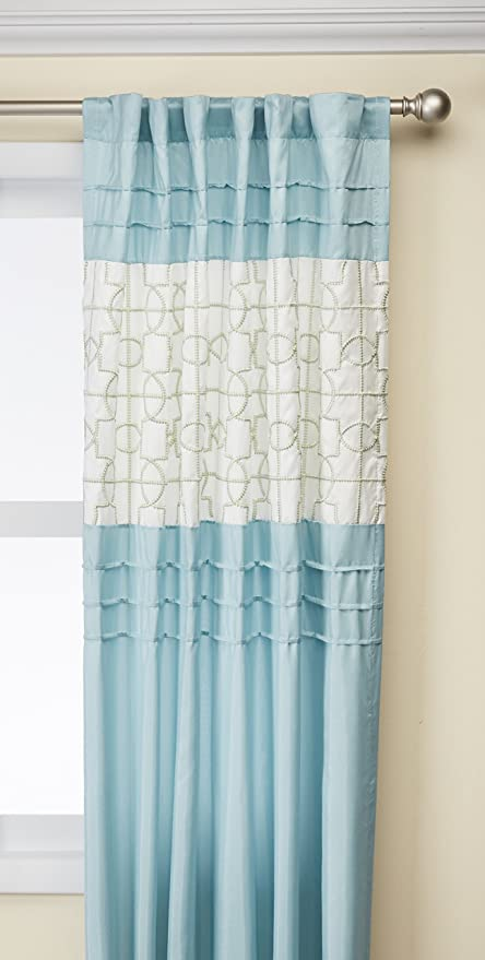 JLA Home INC Aqua Curtains For Living Room, Transitional Back Tab Curtains For Bedroom,