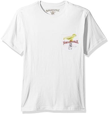 ee9adbc7 Margaritaville Men's Short Sleeve Boat Drinks Pocket T-Shirt, White, Medium