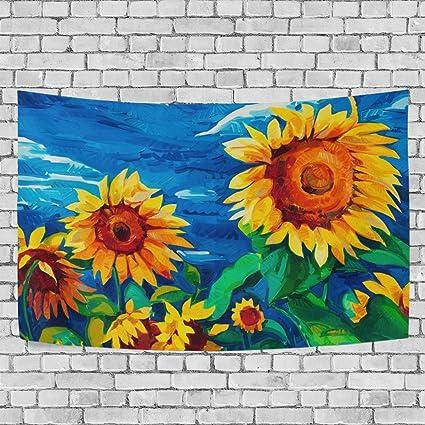 Amazon Sunlome Sunflower Home Decor Oil Painting Sunflowers