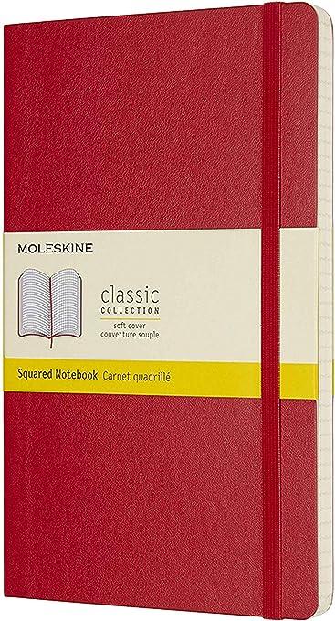 Moleskine - Cuaderno Clásico con Páginas Cuadriculada, Tapa Blanda ...