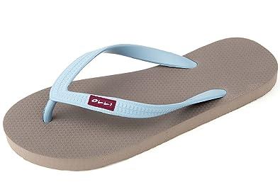 buy popular 8cc0a 02bcf OLLI Men's Fair Trade Flip Flops Iron/Caribbean Bay Blue 42 ...