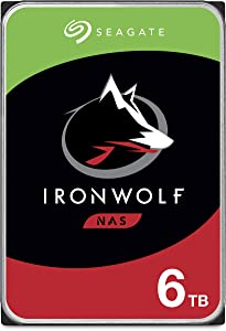 Seagate IronWolf 6TB NAS Internal Hard Drive HDD – CMR 3.5 Inch SATA 6Gb/s 5600 RPM 256MB Cache for RAID Network Attached Storage – Frustration Free Packaging (ST6000VN001)