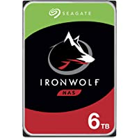 Seagate IronWolf 6TB NAS Internal Hard Drive HDD – CMR 3.5 Inch SATA 6Gb/s 5600 RPM 256MB Cache for RAID Network…