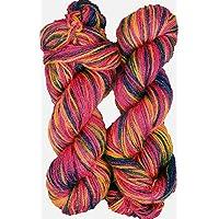 Oswal Knitting Yarn Wool, Multi Rowan 200 gm Woolen Crochet Yarn Thread. Best Used with Knitting Needles, Crochet Needles. Vardhman Wool Yarn for Knitting. Best Woolen Thread.