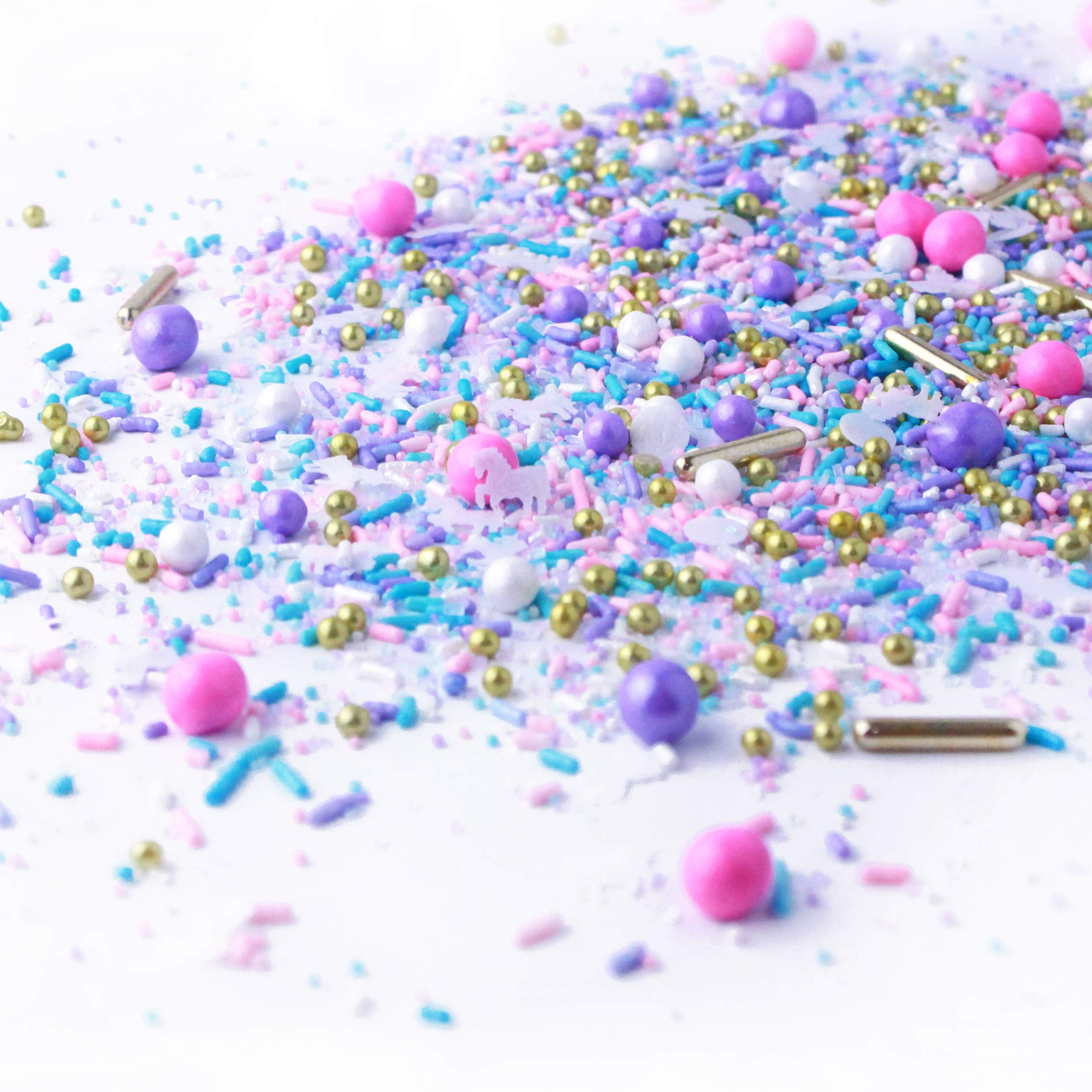 Unicorn Sprinkle Mix | Pastel | Pink Purple and Blue | Gold Unicorn Sprinkles, 8OZ by SPRINKLE POP