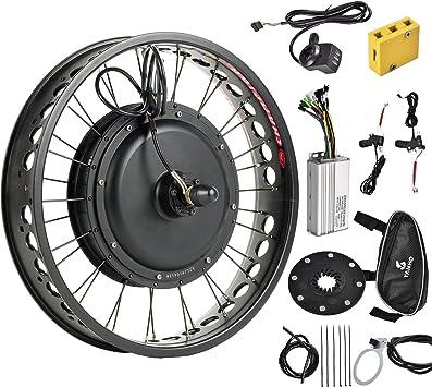Murtisol Kit de Motor eléctrico para Bicicleta eléctrica, Rueda Delantera de 26