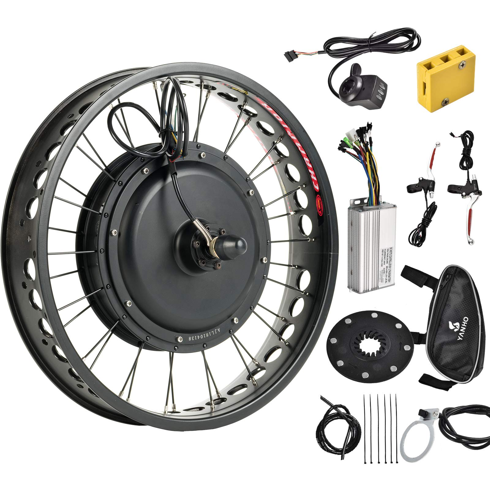 Murtisol Electric E-Bike Motor Kit 20'' Fat Tire Front Wheel 48V 1000W Bicycle Motor Conversion Kit