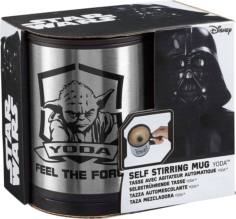 STAR WARS Yoda Feel The Force Auto-m/élangeuse Mug Argent