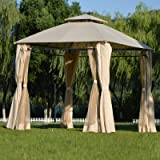 Gazebo Canopy Tent,12.7' X 12.7' Outdoor Gazebo for Patios,Outdoor BBQ Canopy,Large Party Tent,Metal Frame Waterproof Wedding