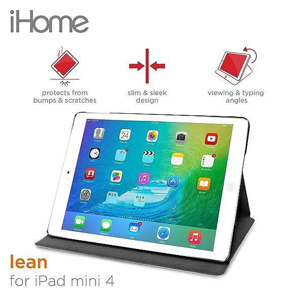 Amazon.com: IHome - Lean Ultra Slim Folio Case For IPad Mini 4 ...