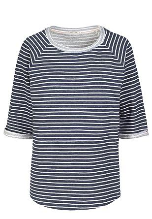 08430e6553c6a4 armedangels Damen Sweatshirt aus Bio-Baumwolle - Elisa Stripes - XS navy-off  white