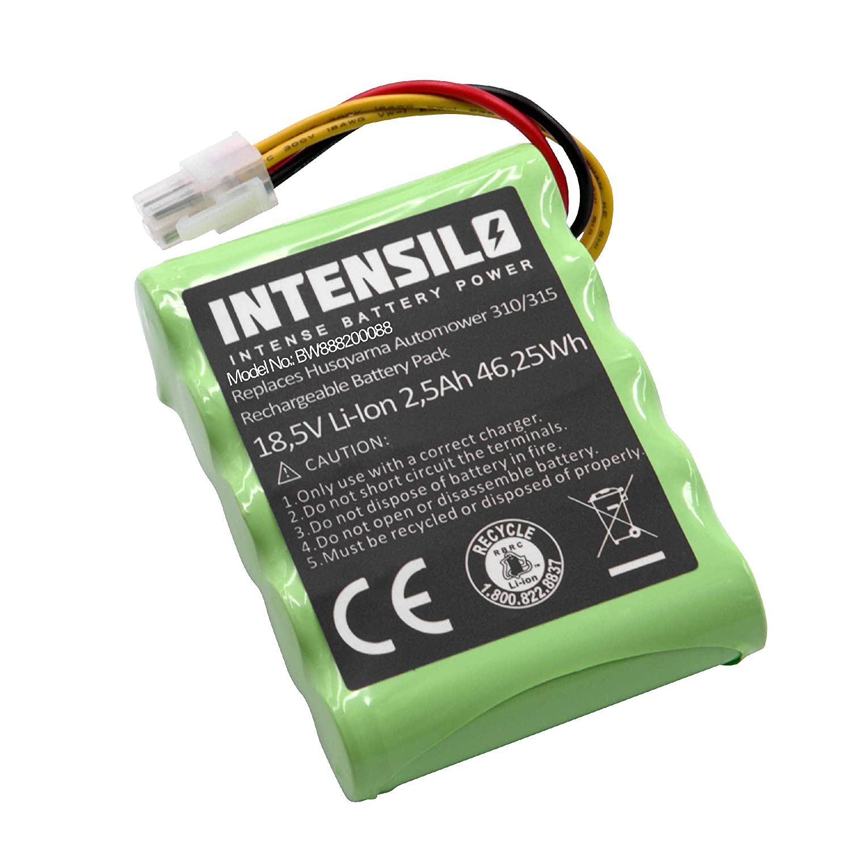 INTENSILO Batteria per Robot tagliaerba rasaerba per Husqvarna Automower 315X (2500mAh, 18.5V, Li-Ion)