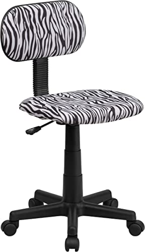 Flash Furniture Black and White Zebra Print Swivel Task Office Chair