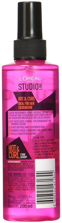 L Oraal Paris Studio Line Hot Curl Thermo Locken Spray 200 Ml