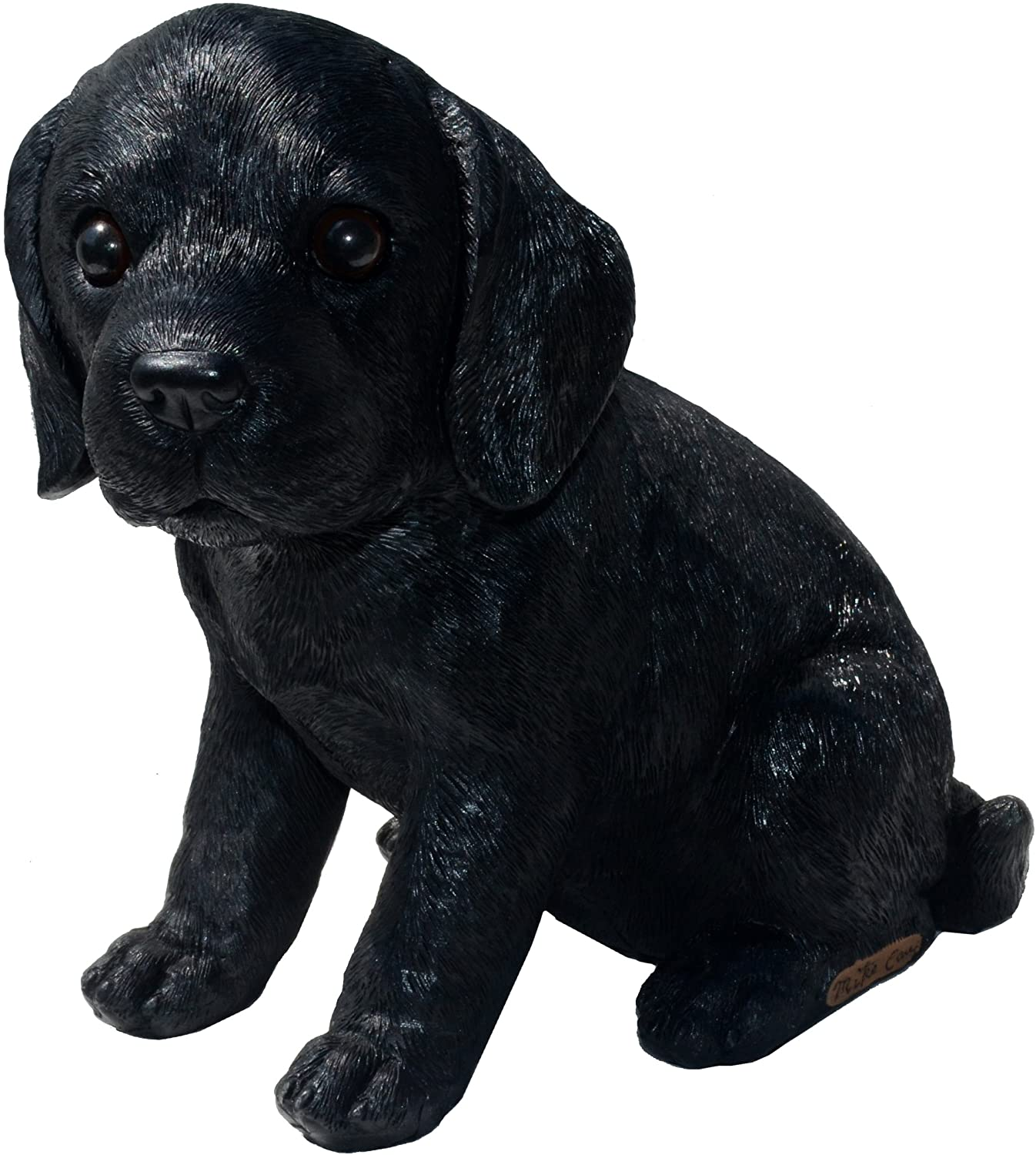 Michael Carr Designs Labrador S Shadow-Black Puppy Love Outdoor Dog Figurine for Gardens, patios and lawns (80099)