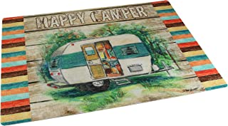 "product image for Drymate RVM1826HCR RV Floor Mat 18"" x 26"" - Happy Camper"