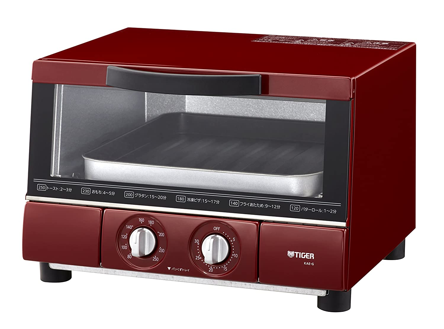 """Tiger oven toaster """"YAKITATE"""" KAE-G13N (Red)"""