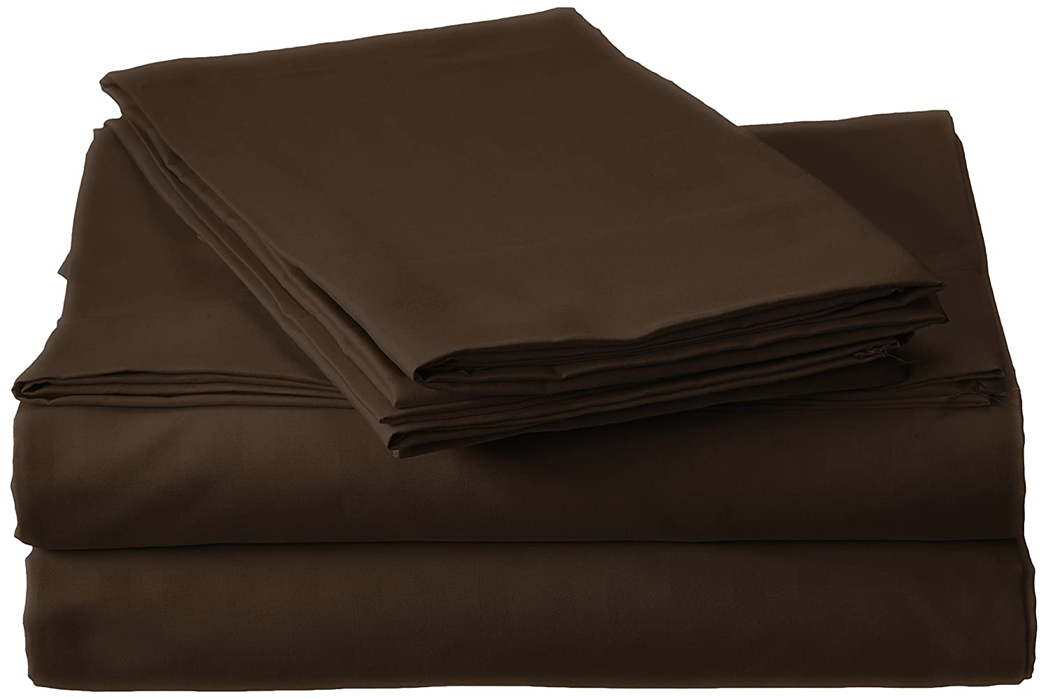 Millenium Linen Full Size Bed Sheet Set - Coffee - 1600 Series 4 Piece - Deep Pocket - Cool and Wrinkle Fre e - 1 Fitted, 1 Flat, 2 Pillow Cases