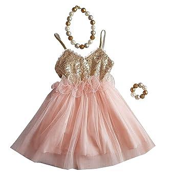 80f1a16519 Amazon.com: LMC Gold Sequin Tutu Dress for Cake Smash Wedding ...