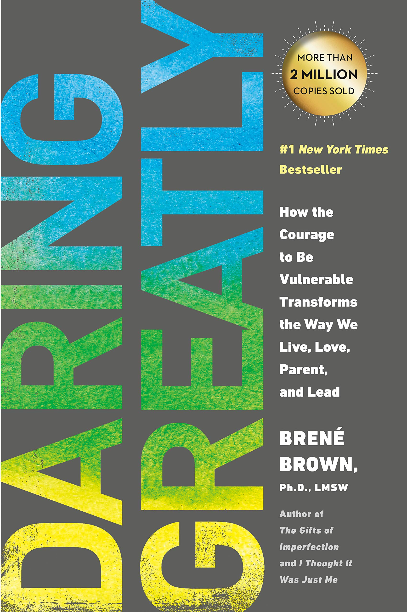 Brene Brown Daring Greatly book cover. #books #brenebrown #personalgrowth #courage #spiritualjourney #daringgreatly