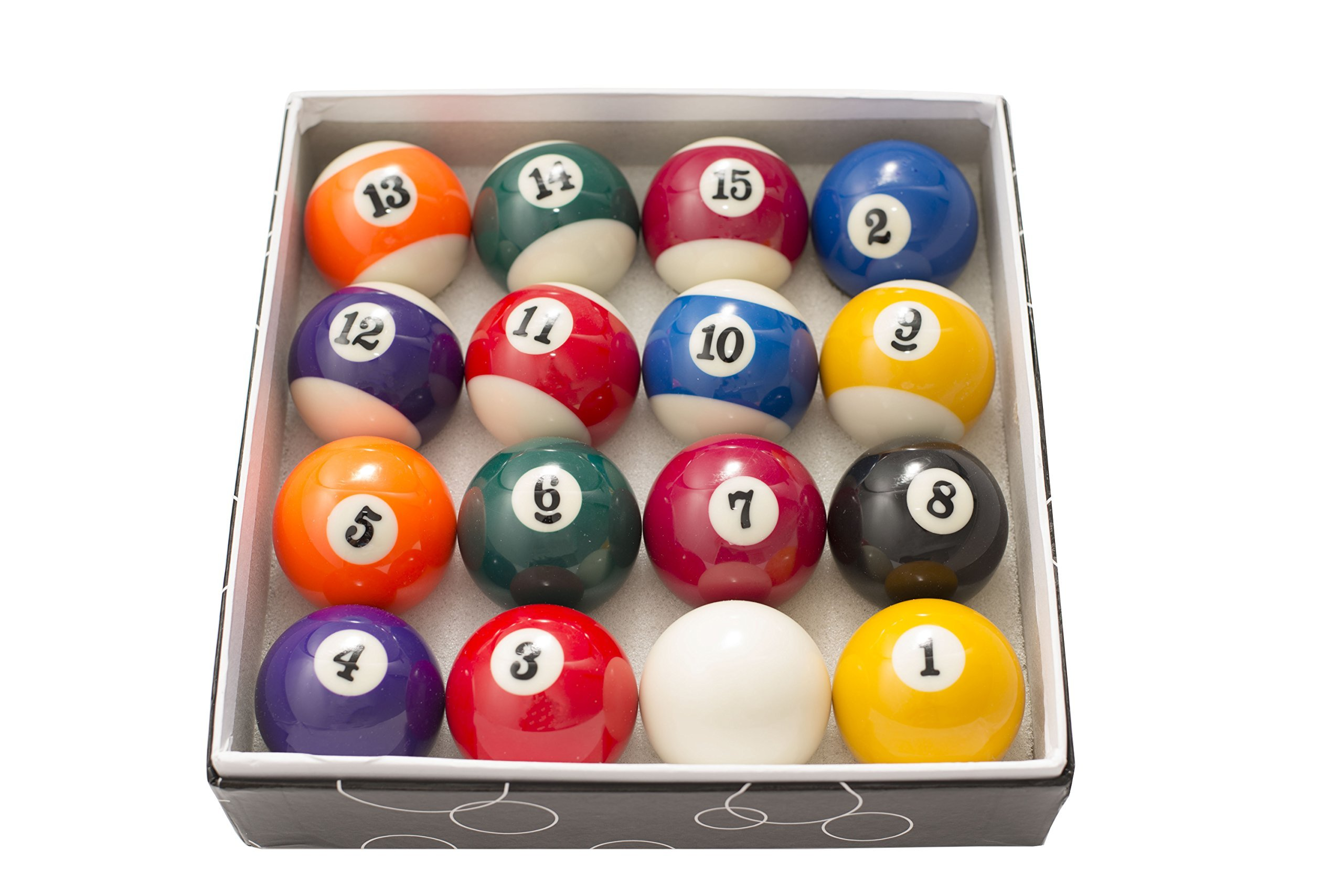 2 Inch Small Size Pool Billiard Ball Set For Kid and Fun Use Or Small Pool Tables