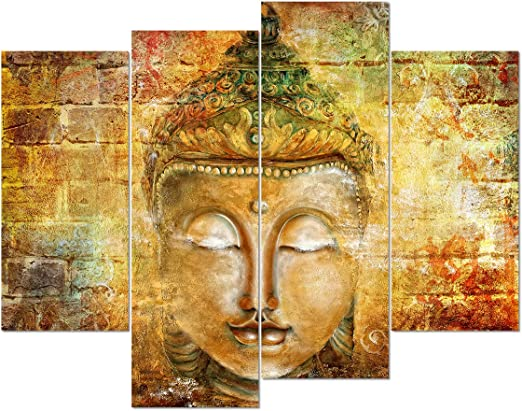 Wall Art Buddha Poster Oil Painting Canvas Picture Print Wall Hangings Decor