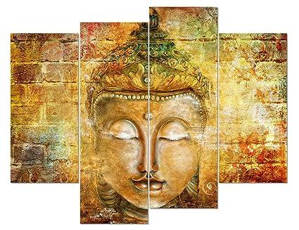 Amazon Com Daxipri Buddha Wall Art Pure Hand Painted Framed Canvas