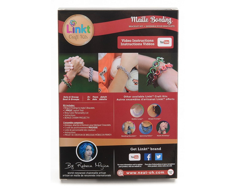 Amazoncom Linkt Craft Kit Maille Bonding 5 Bracelets Toys Games