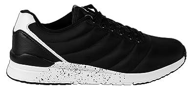 new arrival d8ba6 98613 Beppi Herren Sneaker Wasserabweisend Gr. 40-45 - Knöchelhohe Freizeitschuhe  Laufschuhe Sportschuhe Gedämpfte Sohle Schuhe Sportlich Low, Schwarz-Weiß