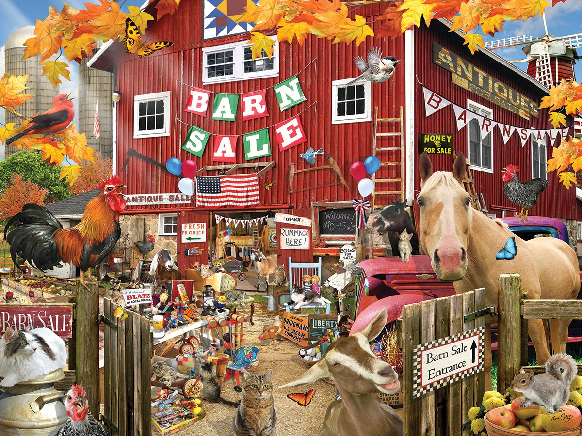 1328 1000 Piece Jigsaw Puzzle Inc White Mountain Puzzles Barn Sale