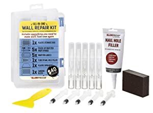Slobproof Wall Repair Patch Kit | Touch-Up Paint Pens that Fill with Any Paint for Color-Matched Touch Ups to Scuffed Walls Plus Putty Knife, Spackle & Sanding Block for Wall Patch, 5-Pack Kit