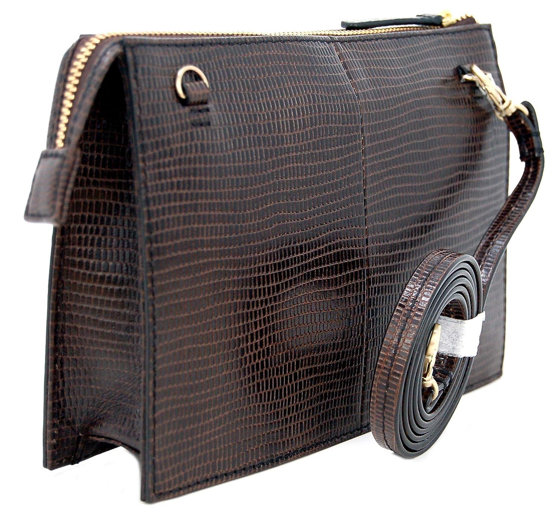 66dec9c94d7 RADLEY Leather  Bond Street  Small Zip-Top Cross Body Clutch Bag in Brown   Amazon.co.uk  Clothing