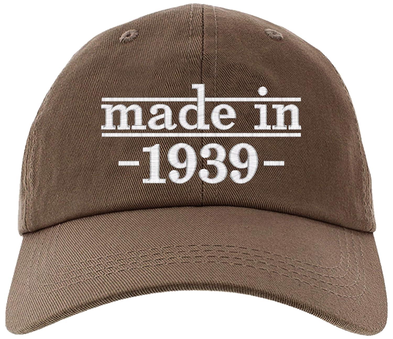 Amazon Cap 1939 80th Birthday Gift Made In Baseball Hat EM 0020 Black Clothing