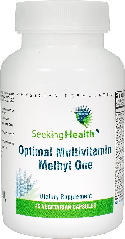 Optimal Multivitamin Methyl One 45 Vegetarian Capsules Seeking Health