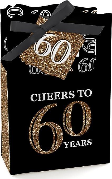 Amazon.com: Adulto 60 cumpleaños – dorado – fiesta de ...