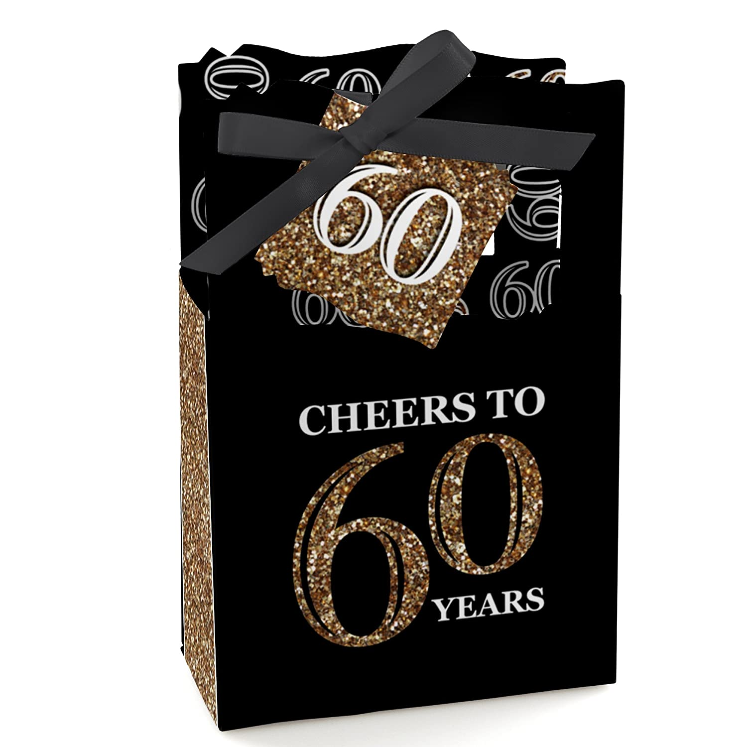 Amazon Adult 60th Birthday Gold Birthday Party Favor Boxes