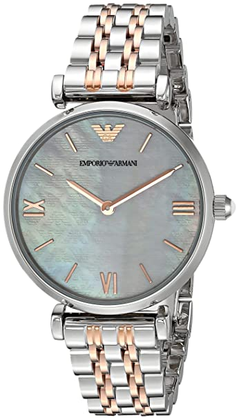 b9a88269a0 Buy Emporio Armani Gianni T-bar Analog Multi-Colour Dial Women's Watch -  AR1987 Online at Low Prices in India - Amazon.in