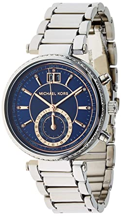 b98f912da66d Amazon.com  Michael Kors Women s Sawyer Silver-Tone Watch MK6224 ...