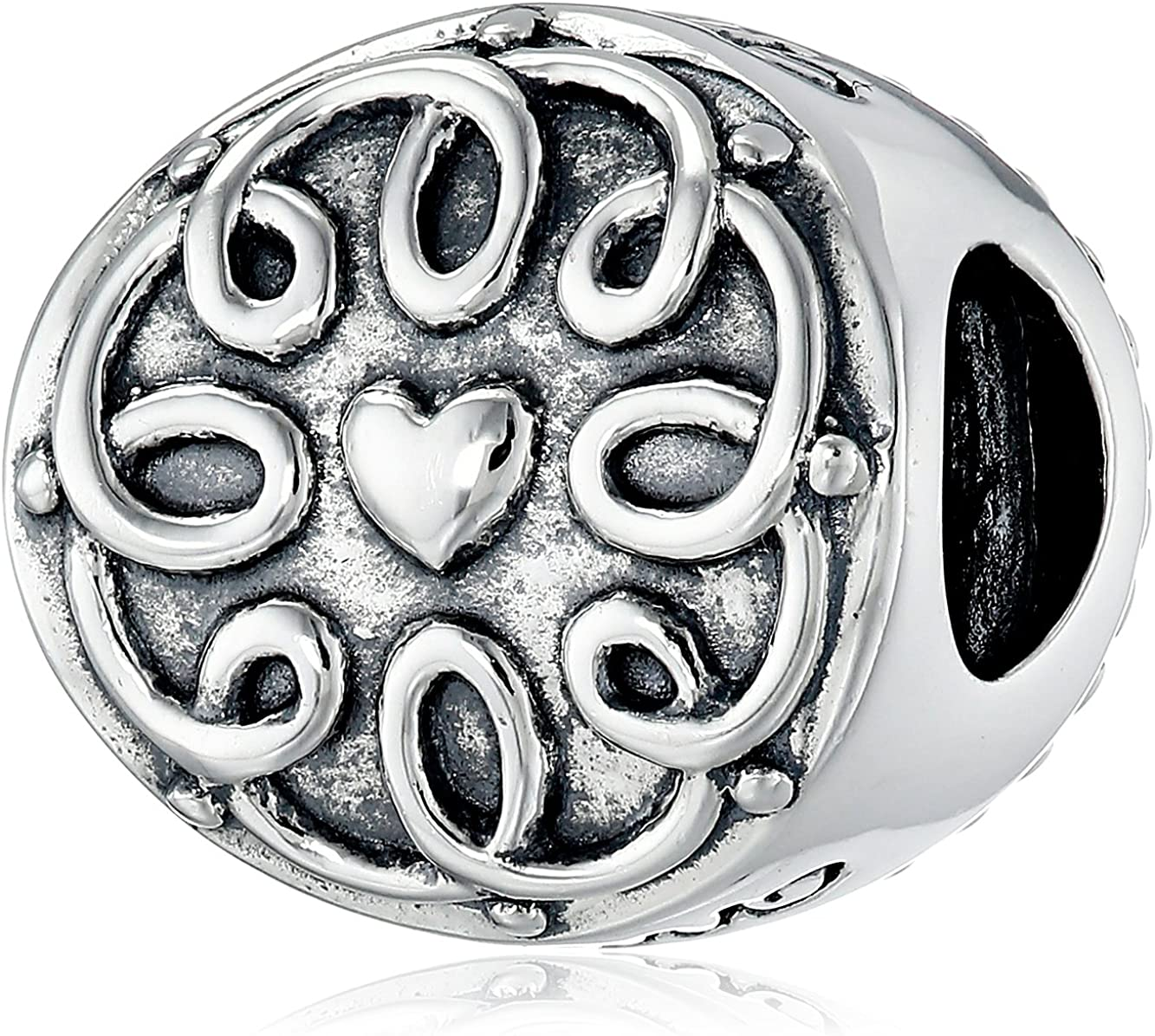 Chamilia Family Disc Sterling Silver Disc Bead Charm