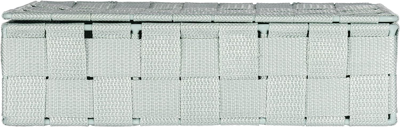 Wenko 22575100 Adria Panier de salle de bain Avec Couvercle Taupe 19 x 14 x 10 cm