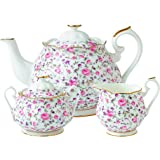 Royal Albert 8704025823 New Country Roses Rose Confetti Teaset, 3-Piece