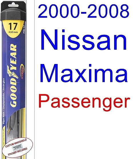 2000 – 2008 Nissan Maxima de repuesto para limpiaparabrisas Set/Kit (Goodyear limpiaparabrisas blades