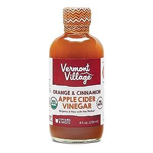 Vermont Village Orange & Cinnamon Apple Cider Vinegar (Organic), 8ounce