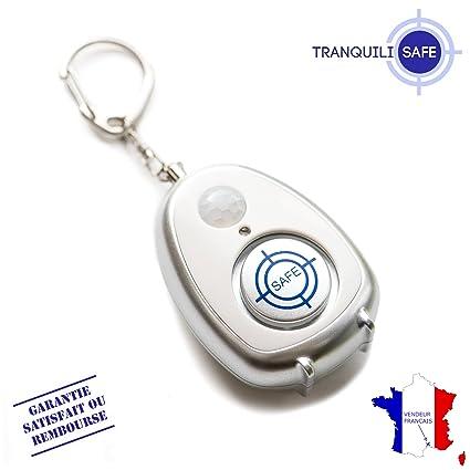 Tranquilisafe® Alarma Personal anti agresión y antirrobo con detector de movimiento–