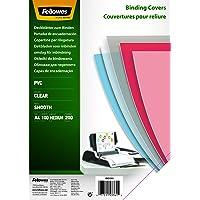 Fellowes  5376102 -  Pack de 100 PVC A4 200 Microns Couvertures de reliure - Transparent