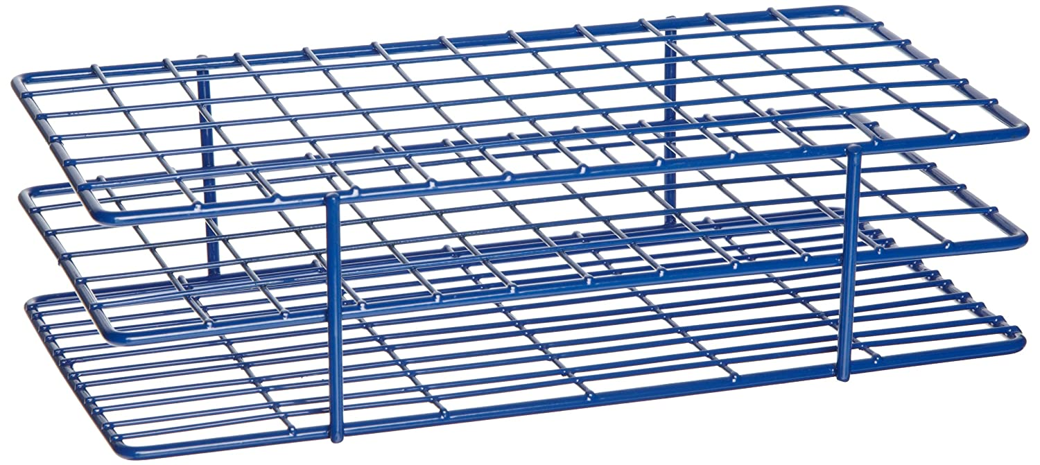 Cheap Heathrow Scientific HD23072 Steel Epoxy-Coated 72-Well Wire Rack for 16mm Tubes, Blue free shipping gnp5SQrQ