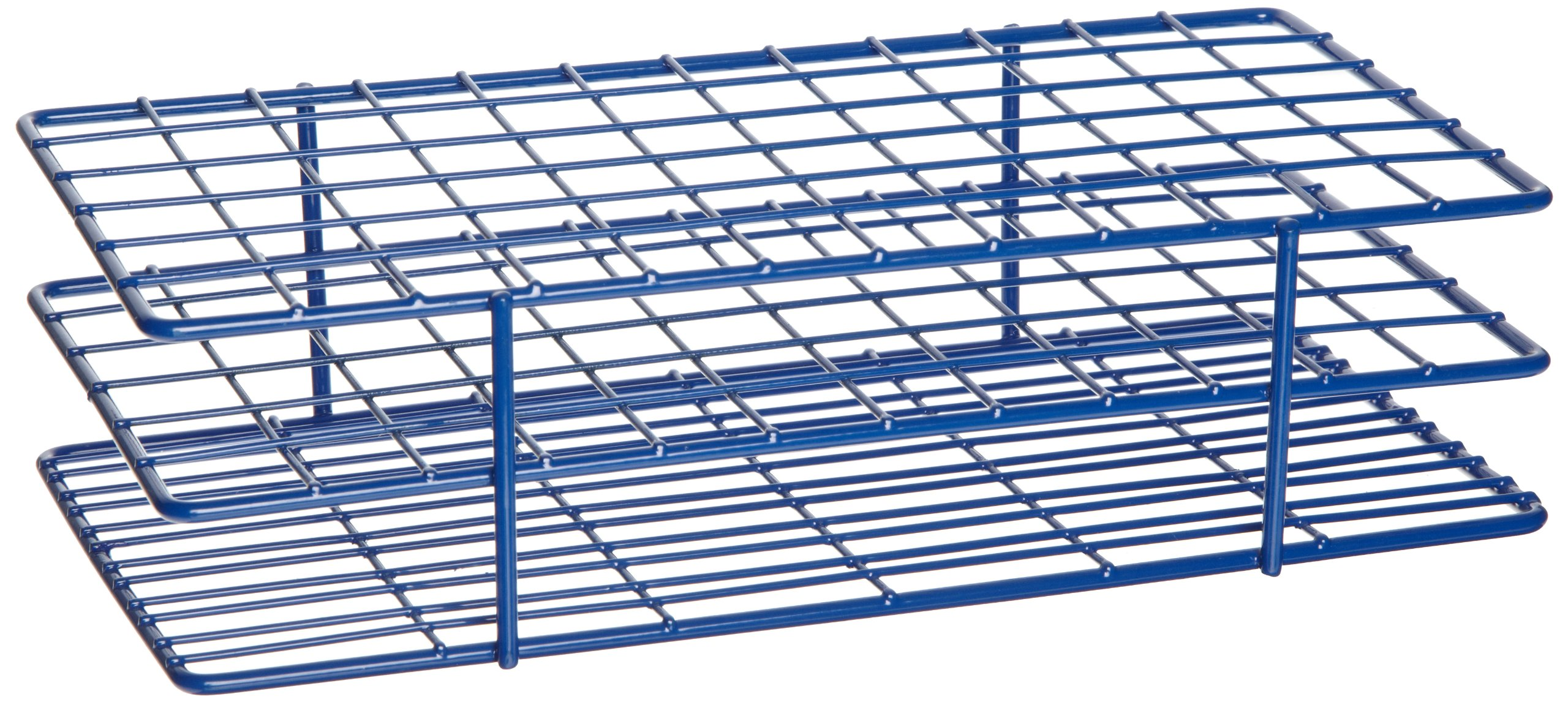 Heathrow Scientific HD23072 Steel Epoxy-Coated 72-Well Wire Rack for 16mm Tubes, Blue by Heathrow Scientific