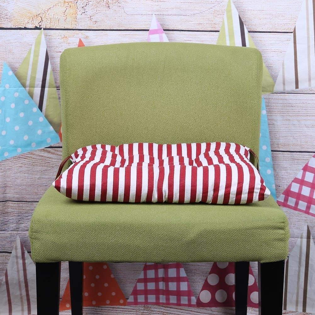Chair Pads Home Kitchen Red Striped Demiawaking Tie On Chair Seat Pads Cushions Soft Cotton Linen Kitchen Dining Outdoor Garden Office Chair Cushion Pads