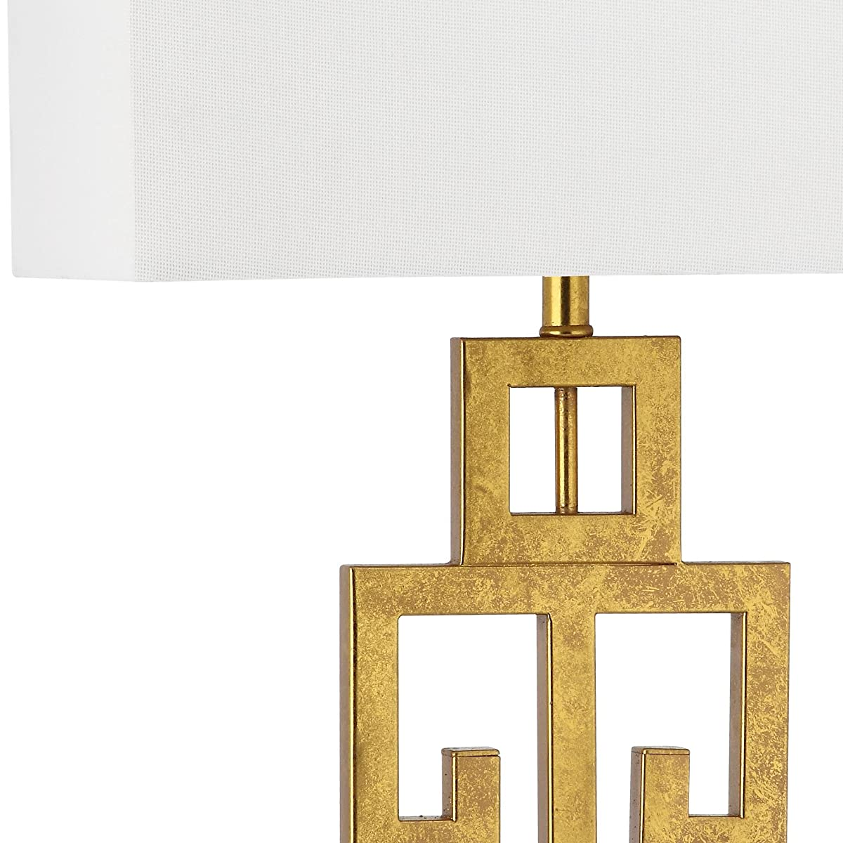 Safavieh Lighting Collection Greek Key Antique Gold 28.75-inch Table Lamp (Set of 2)