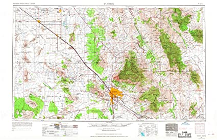 Tucson Usa Map on